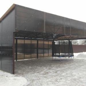 Навес на 2 машины в Иркутске