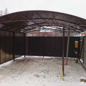 Навес из поликарбоната в Иркутске