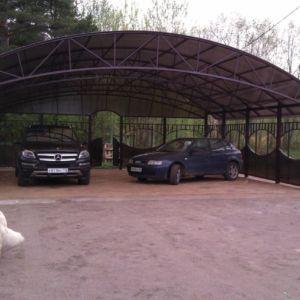 Арочный навес для авто в Иркутске