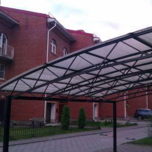 Навесы из профильной трубы в Иркутске