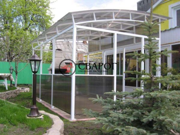 Терраса из поликарбоната 4 на 3 в Иркутске