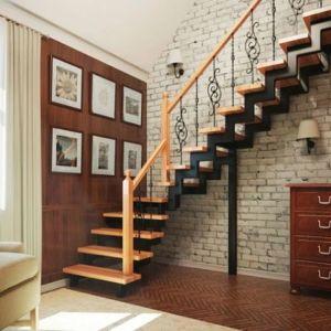 Лестница на двойном усиленном косоуре Г-образная (3) в Иркутске