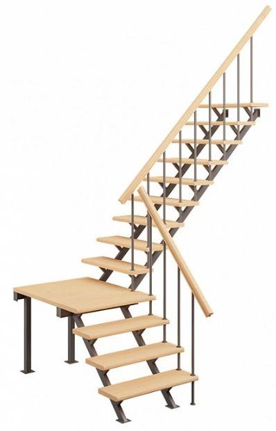Лестница на стальном каркасе ЛЕС-05 фото 3