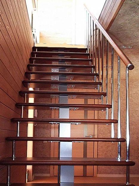 Лестница на монокосоуре прямая фото 5