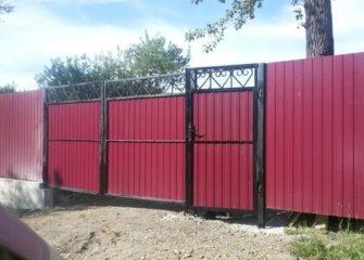 Монтаж откатных ворот в Иркутске
