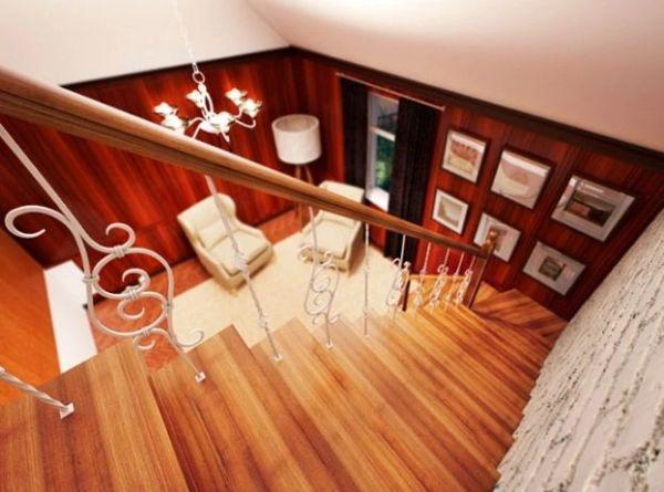 Лестница на двойном усиленном косоуре Г-образная (3) фото 4