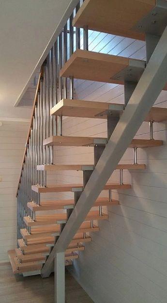 Лестница на монокосоуре прямая фото 4