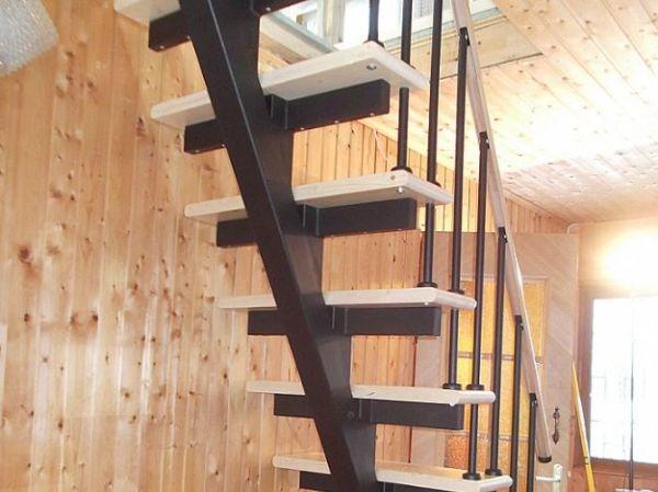 Лестница на монокосоуре прямая фото 2