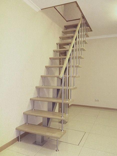 Лестница на монокосоуре прямая фото 1