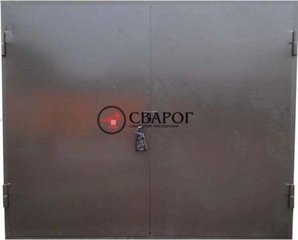 Утеплённые гаражные ворота фото 1