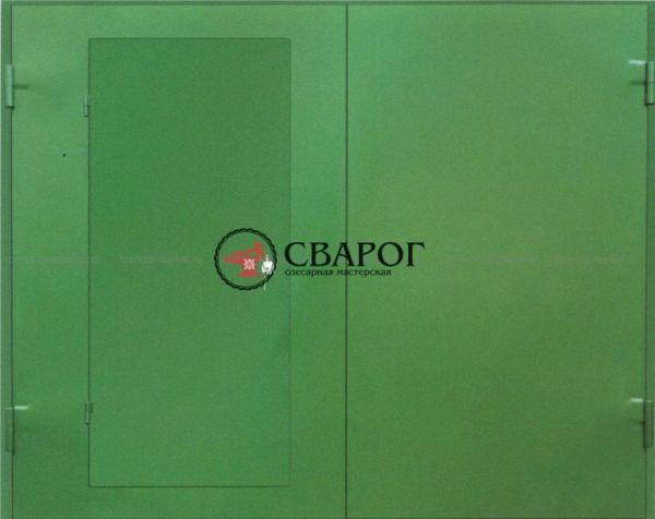 Гаражные распашные ворота с калиткой в Иркутске