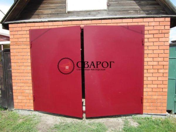 Утеплённые гаражные ворота фото 2