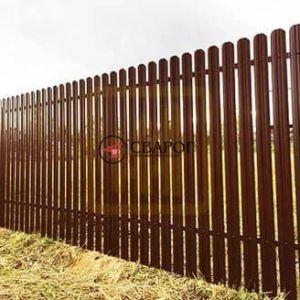 Забор из металлического штакетника, высота 1,5 м фото 1