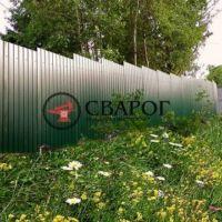 Забор профлиста стандарт зеленый