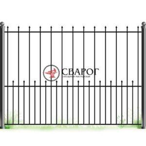 Сварной забор с элементами ковки А3200 вариант 1
