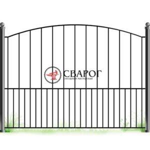 Забор с различными кованными пиками А3210 вариант 1