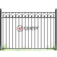 Решетчатый забор с кованными элементами А3240