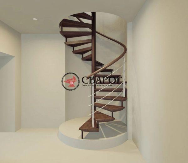 Винтовая лестница на второй этаж