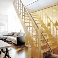 Деревянная лестница прямая ЛЕС-12 фото
