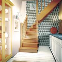Деревянная межэтажная лестница ЛЕС-02 фото