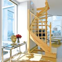 Деревянная межэтажная лестница ЛЕС-03 фото