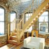 Деревянная межэтажная лестница ЛЕС-04 фото