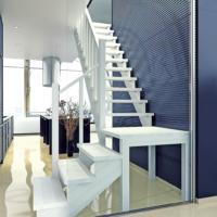 Деревянная межэтажная лестница ЛЕС-08 фото