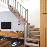 Деревянная межэтажная лестница ЛЕС-09 фото