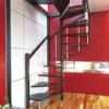Деревянная межэтажная лестница ЛЕС-10 фото