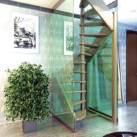 Деревянная межэтажная лестница ЛЕС-1,2ВУ фото