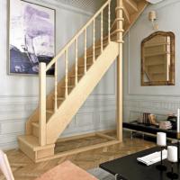 Деревянная межэтажная лестница ЛЕС-215 фото