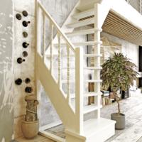Деревянная межэтажная лестница ЛЕС-91 фото