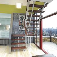 Комбинированная межэтажная лестница ЛЕС-06 фото