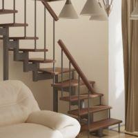 Модульная лестница фаворит (с поворотом 90 градусов) фото