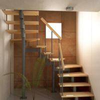 Модульная лестница спринт (c поворотом на 180 градусов) фото
