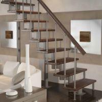 Модульная лестница стандарт (прямой марш) фото