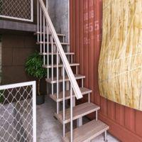 Модульная малогабаритная лестница линия (прямой марш) фото