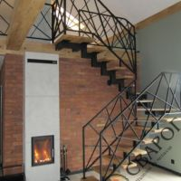 Легкая лестница в стиле Loft фото 1