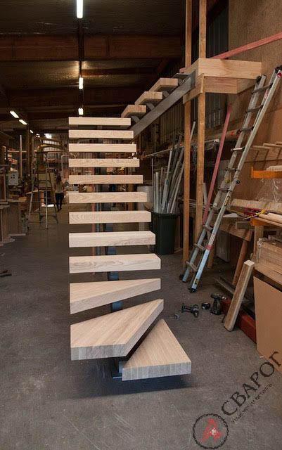 Лестница с толстыми ступенями фото 2