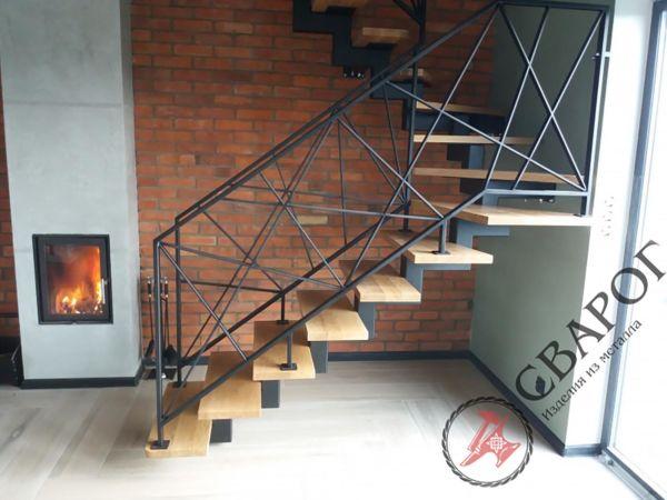 Легкая лестница в стиле Loft фото 4