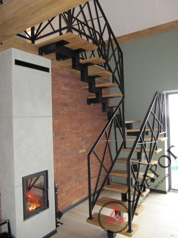 Легкая лестница в стиле Loft фото 2